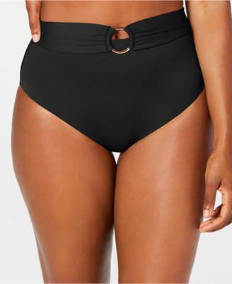 Bar III Sunset Solids Ring High-Waist Bottoms, Women Swimsuit