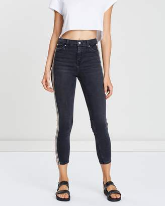 Topshop MOTO Side Stripe Jeans