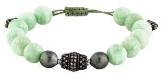 Armenta Pearl, Orthoclase & Diamond Bead Bracelet