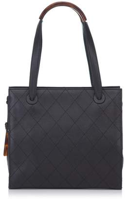 Chanel Vintage Quilted Matalesse Leather Handbag