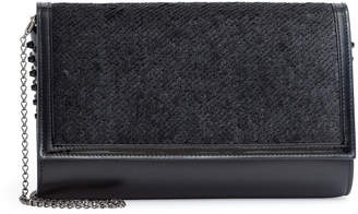 Christian Louboutin Paloma black sequin clutch