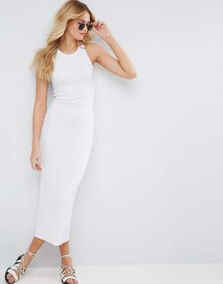 ASOS Bodycon Ribbed Maxi Tank Dress with Racer Back $32 thestylecure.com