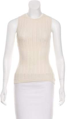 DKNY Sleeveless Open Knit Top
