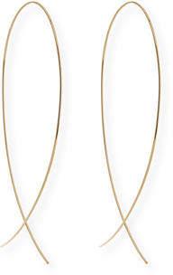 Lana Large Upside Down Hoop Earrings in 14K Gold