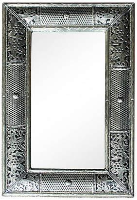 One Kings Lane Vintage Handmade Moroccan Mirror with Engravings - The Moroccan Room