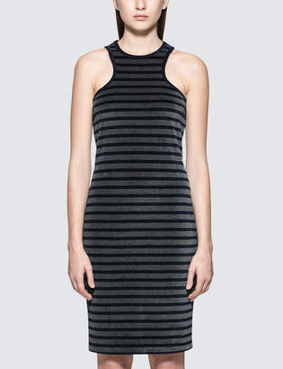 Alexander Wang.T Stripe Velour Racerback Tank Dress