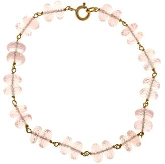 14K Yellow Gold with Morganite Wire Connect Bracelet