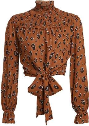 Nicholas Leopard Print Georgette Blouse
