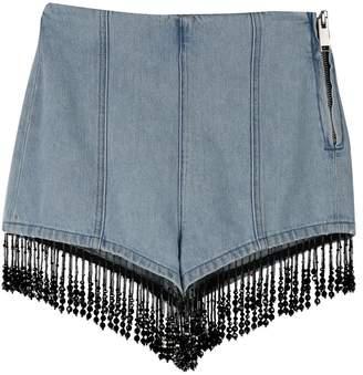 2e4562390a442d MSGM Bead-embellished Cotton-denim Shorts