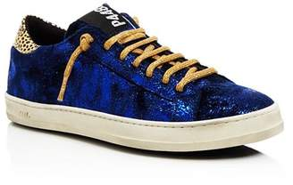 P448 Women's John Velvet Low Top Sneakers