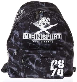 Philipp Plein Lightning Printed Backpack With Logo