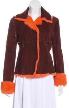 Dolce & Gabbana Fur-Trimmed Suede Jacket
