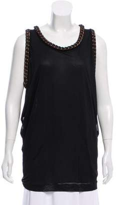 Jean Paul Gaultier Soleil Chain-Trimmed Sleeveless Top