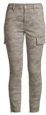 Joe's Jeans Women's Charlie High-Rise Ankle Skinny Camouflage Jeans