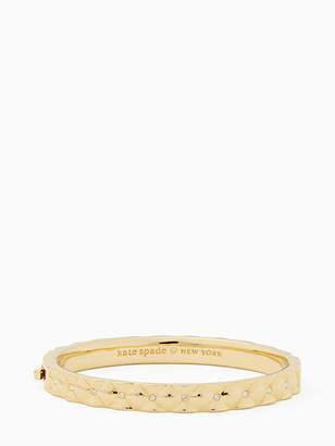 Kate Spade Heavy metals quilted bangle