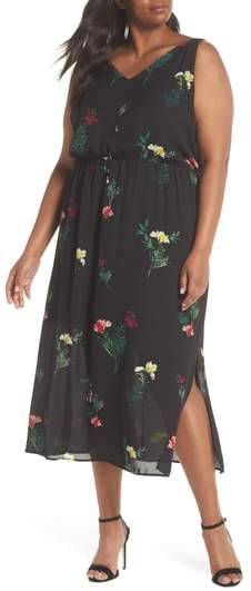 Tropical Garden Midi Dress