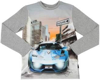 Molo Car Printed Cotton Jersey T-Shirt