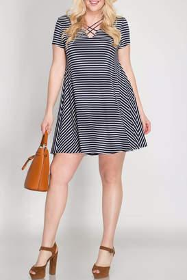 She + Sky Think Nautical Dress