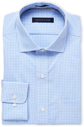 Tommy Hilfiger Light Blue Check Regular Fit Dress Shirt