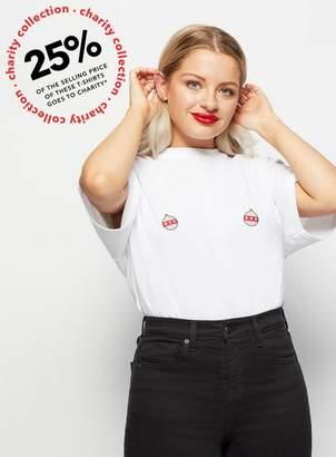 Miss Selfridge Girlvscancer charity christmas bauble t-shirt