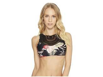 Roxy Sea Lovers Crochet Crop Bikini Top Women's Swimwear