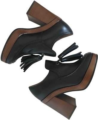 Pollini Black Leather Heels