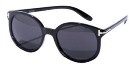 Black Round Oxford Sunglasses