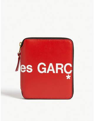 Selfridges Comme Pocket Logo print zip-around leather wallet
