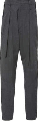 Bassike Tapered Wool-Blend High-Rise Pants