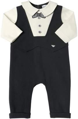 Emporio Armani Suit Cotton Interlock Romper