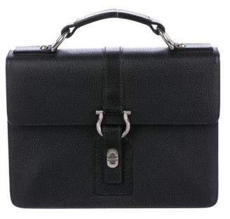 Salvatore Ferragamo Grained Leather Handle Bag