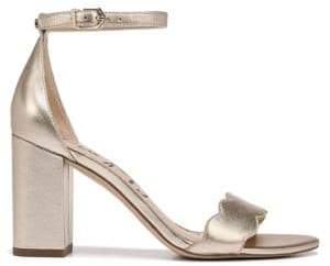 Sam Edelman Odila Scalloped Metallic Leather Sandals