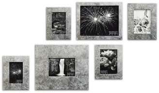 Badgley Mischka Home Arlene 6Pc Silver Leaf Gallery Frame Set