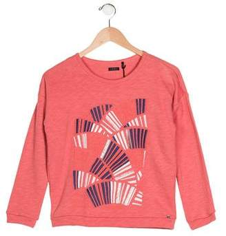 Ikks Girls' Embroidered Knit Sweater w/ Tags