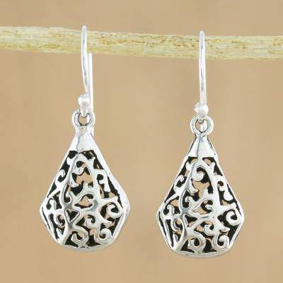 Entwining Eternity Sterling Silver Dangle Earrings Hand Crafted in Thailand