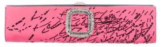 Roger Vivier Beaded & Crystal Embellished Clutch