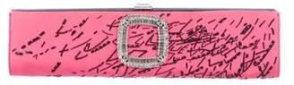 Roger Vivier Beaded & Crystal Embellished Clutch