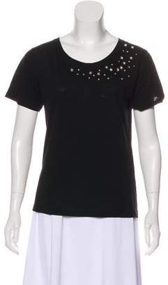 Saint Laurent Crystal-Embellished T-Shirt