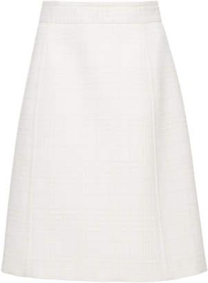 Bottega Veneta Check Boucle Wool Pencil Skirt