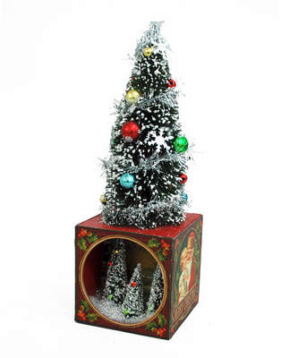 The Holiday Aisle Lighted LED Tree on Box Scene
