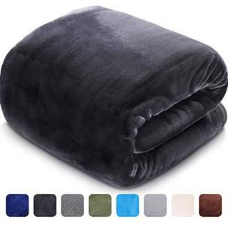 LEISURE TOWN Fleece Blanket King Size 330 GSM Soft Warm Fuzzy Winter Luxury Plush Microfiber Fabric