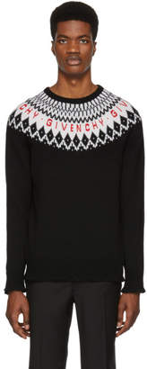 Givenchy Black Merino Wool Sweater