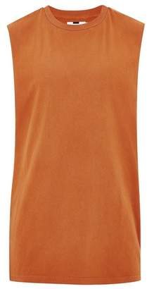 Topman Mens Washed Orange Tank Tank