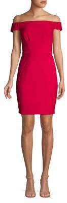 Adrianna Papell Daphne Off-The-Shoulder Sheath Dress