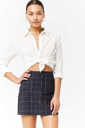 Forever 21 Grid Mini Skirt