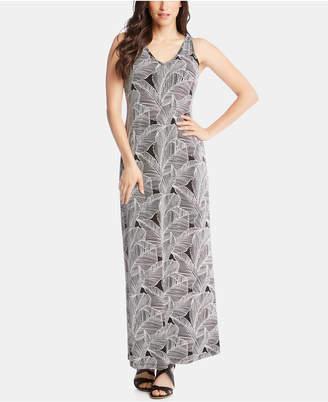 Karen Kane Leaf-Print Maxi Dress