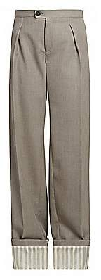 Chloé Women's Straight Cuffed Wool Pants