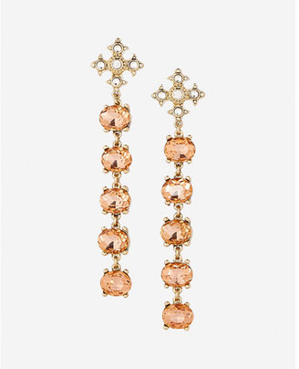 Express Five Stone Linear Drop Earrings $24.90 thestylecure.com