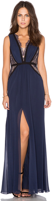 BCBGMAXAZRIA Plunge Neck Gown $498 thestylecure.com