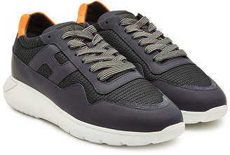 Hogan Interactive Sneakers with Leather and Mesh